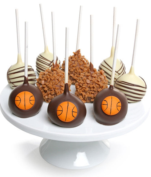 Basketball Chocolate Dipped Cake Pops - 10pc - Chocolate Covered Company®