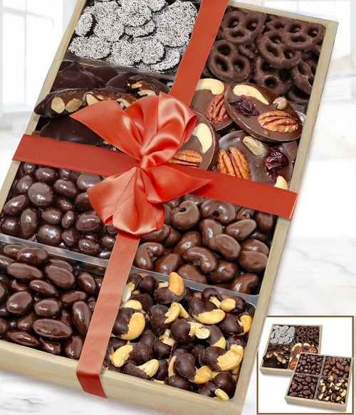 Dark Belgian Chocolate Covered Nut & Snack Gift Tray Set - Chocolate Covered Company®