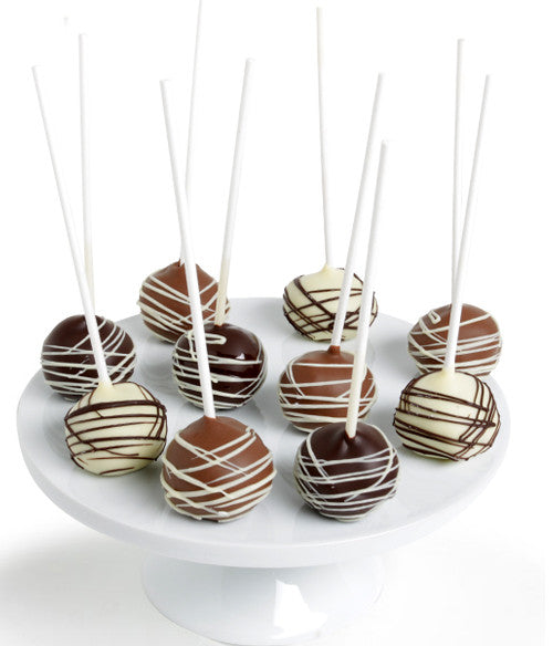 Classic Belgian Chocolate-Dipped Cake Pops - Golden Edibles