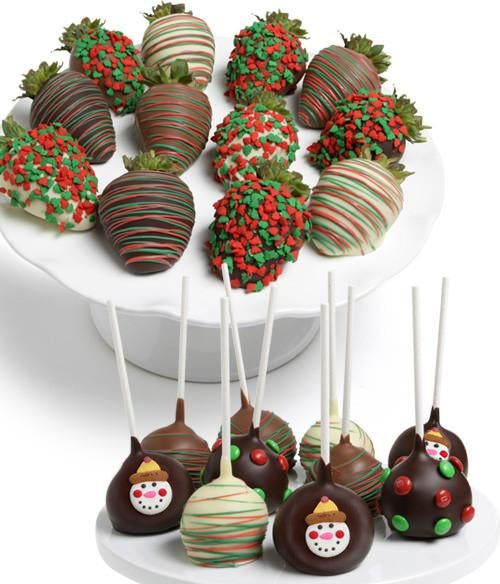 Holiday Chocolate Strawberries & Cake Pops - 22pc - Chocolate Covered Company®