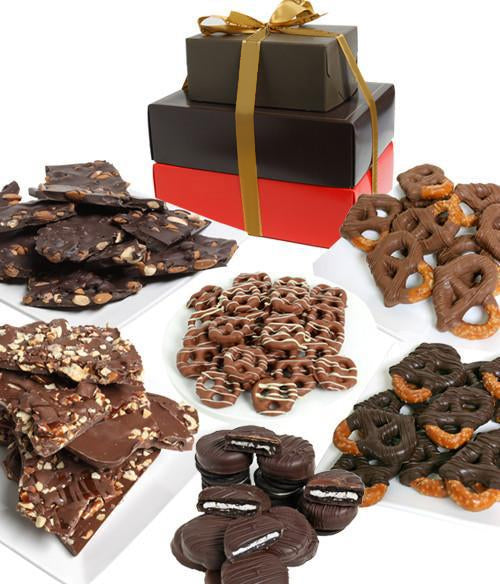 Premium Belgian Chocolate Covered Snack Gift Tower - Chocolate Covered Company®