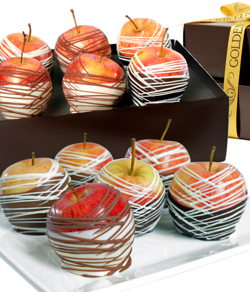 Classic Belgian Chocolate Covered Apples - Golden Edibles