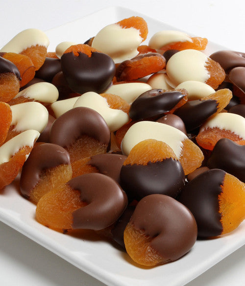 Belgian Chocolate Covered Apricots -1 Lb - Golden Edibles