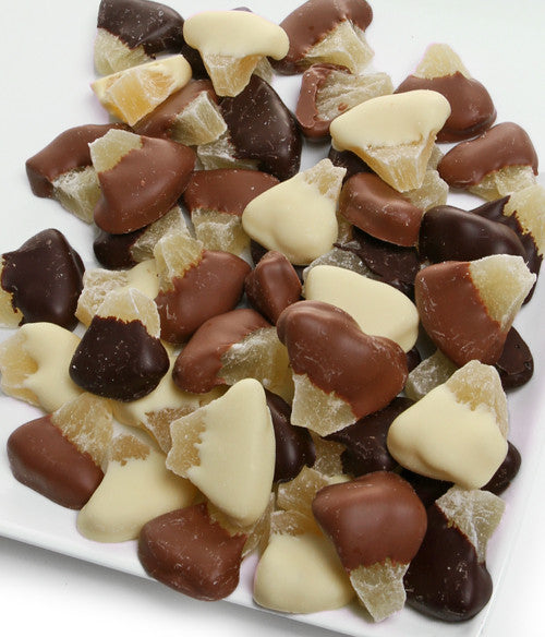 Belgian Chocolate Covered Pineapple - 1 Lb - Golden Edibles