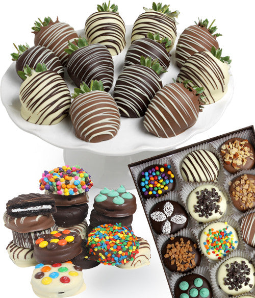 Classic Chocolate Covered Strawberries & Ultimate OREO® Cookies - 24pc - Golden Edibles