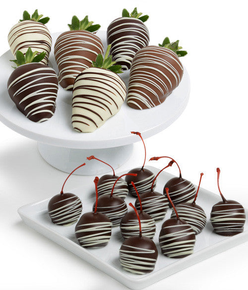 Classic Chocolate Strawberries & Chocolate Covered Cherries
