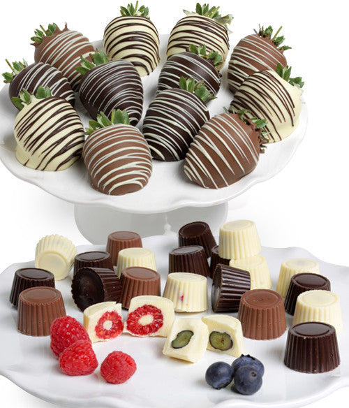Mixed Chocolate Berries - (Strawberries,  Raspberries,  Blueberries) - 36pc - Chocolate Covered Company®
