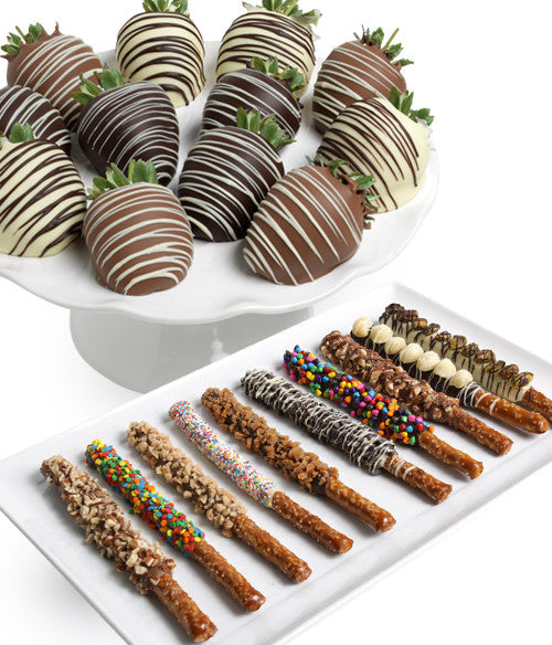 Classic Chocolate Strawberries & Ultimate Pretzels - Golden Edibles