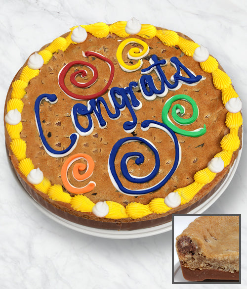CONGRATS Cookie Bark Cake - Belgian Chocolate - Chocolate Covered Company®