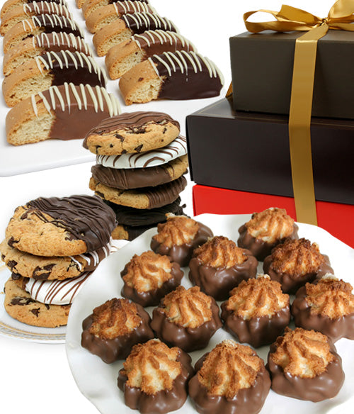 Belgian Chocolate Covered Cookie Tower (36pc)