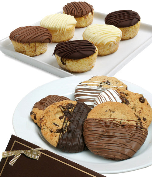 Belgian Chocolate Dipped Cookies & Mini-Cheesecakes