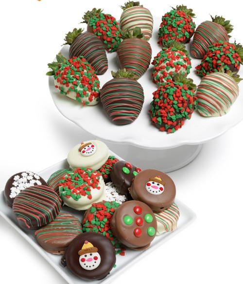 holiday chocolate covered strawberries oreo cookies chocolate covered company - Christmas Chocolate Covered Strawberries