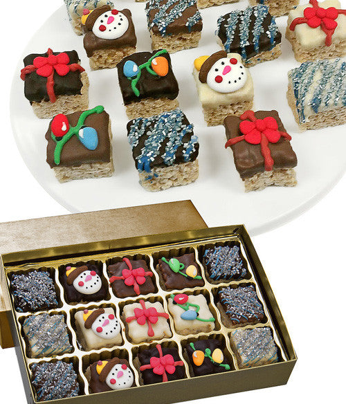 Holiday Belgian Chocolate Crispy Bites - 15pc - Golden Edibles