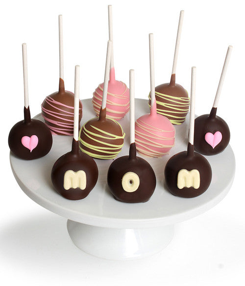 Mother's Day Chocolate Dipped Cake Pops - Golden Edibles