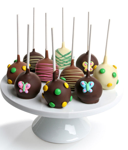 Spring Chocolate Dipped Cake Pops - Golden Edibles