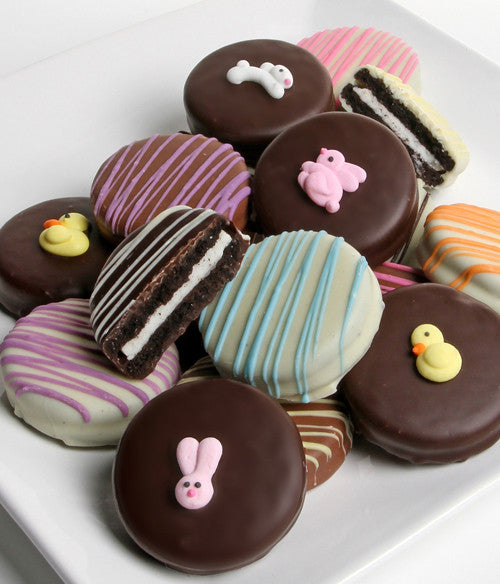 Easter Belgian Chocolate-Dipped Oreo® Cookies Gift - 12pc - Golden Edibles