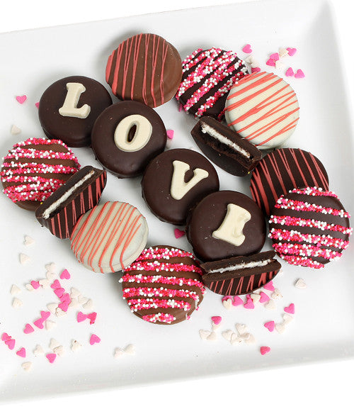 LOVE - Decorated Chocolate-Dipped OREO® Cookies Gift - Golden Edibles