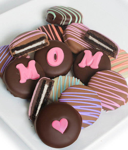 MOM - Decorated Chocolate-Dipped OREO® Cookies Gift - Golden Edibles
