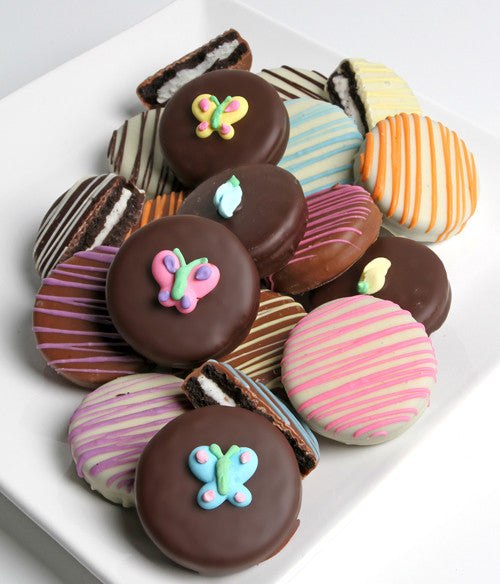 Spring Belgian Chocolate-Dipped OREO® Cookies Gift - 12pc - Golden Edibles