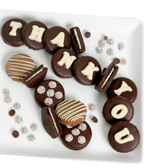 THANK YOU - Decorated Chocolate-Dipped OREO® Cookies Gift - Golden Edibles