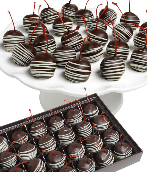 Belgian Chocolate Covered Cherries - Golden Edibles