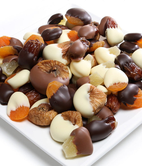 Belgian Chocolate Covered Dried Fruit  - 1 lb - Golden Edibles