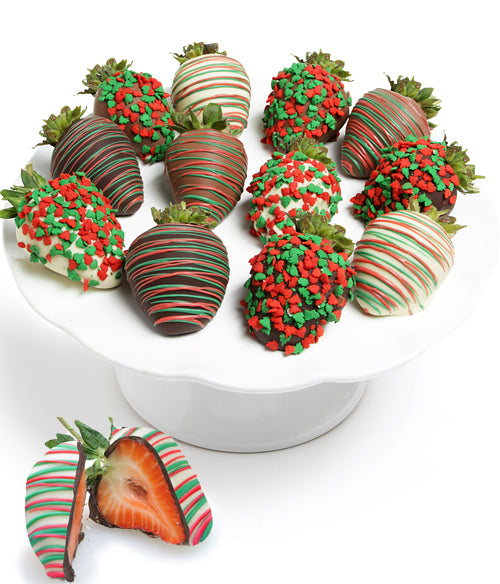 Holiday Belgian Chocolate Covered Strawberries - Chocolate Covered Company®