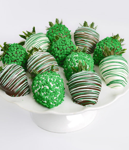 St. Patrick's Day Chocolate Covered Strawberries - Golden Edibles