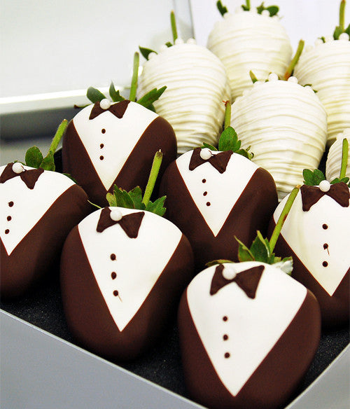 Wedding Chocolate Strawberries - Golden Edibles