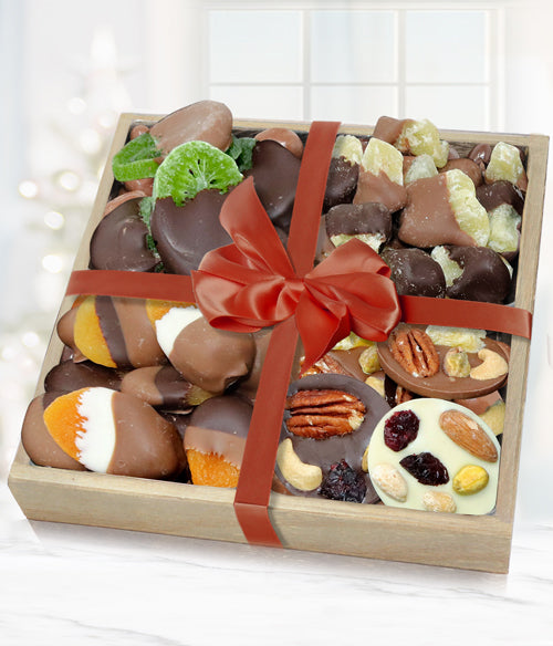 Premium Belgian Chocolate Dipped Dried Fruit & Mendiant Gift Tray - Chocolate Covered Company®