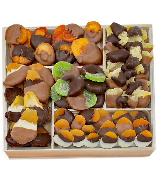 Deluxe Belgian Chocolate Dipped Dried Fruit Tray - Chocolate Covered Company®