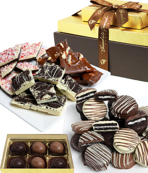 EXECUTIVE FAVORITE Belgian Chocolate Gift Tower (ARTISAN EDITION)
