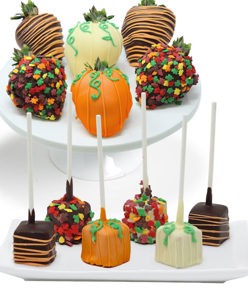 Fall Chocolate Covered Strawberries & Mini-Cheesecake Pops - Chocolate Covered Company®