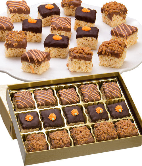 Fall Belgian Chocolate Crispy Bites - 15pc - Golden Edibles