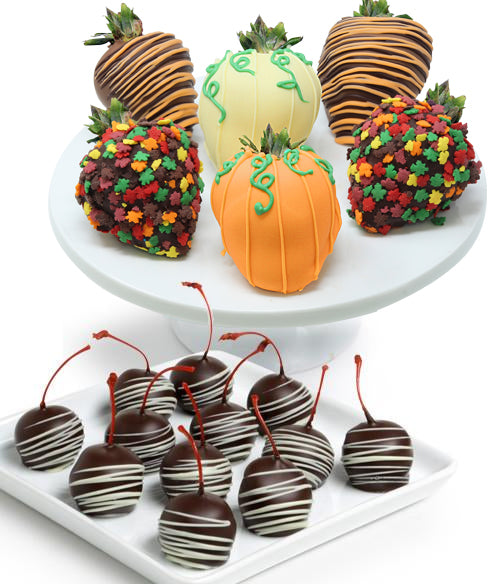 Fall Chocolate Covered Strawberries & Cherries - Chocolate Covered Company®