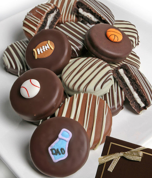 Father's Day Belgian Chocolate-Dipped Oreo® Cookies Gift - 12pc - Golden Edibles