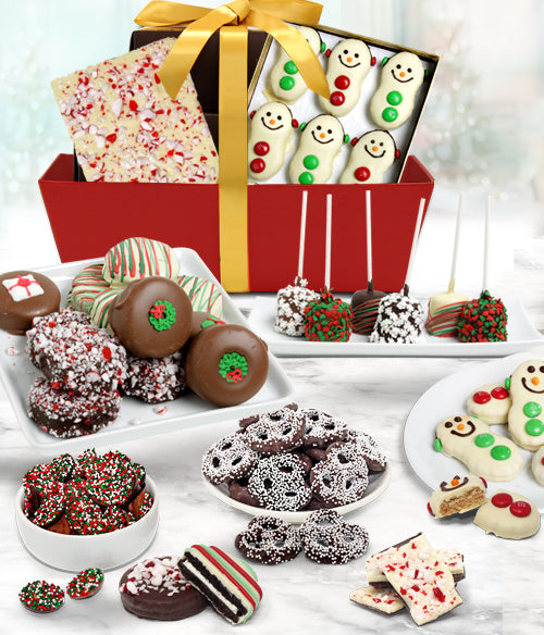 FUN FESTIVE Belgian Chocolate Covered Gourmet Gift Basket - Chocolate Covered Company®