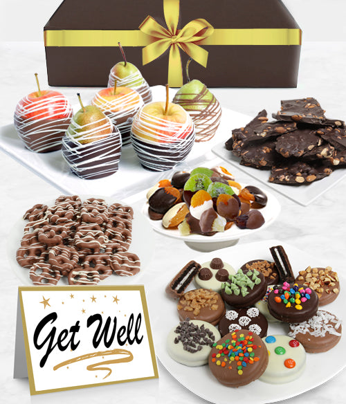 GET WELL - Grand Belgian Chocolate Covered Fruit Gift Box