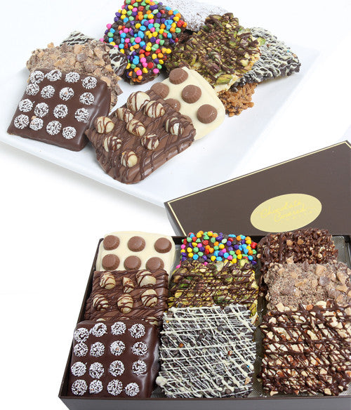 Ultimate Chocolate Covered Graham Crackers Collection - 18 pc - Golden Edibles