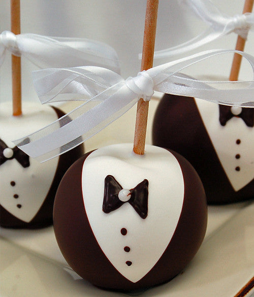 Groom Chocolate Covered Apples - Golden Edibles