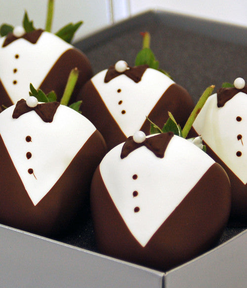Groom Chocolate Strawberries - Golden Edibles