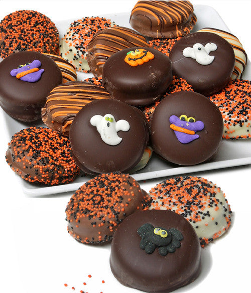 Halloween Belgian Chocolate-Dipped OREO® Cookies Gift - 12pc - Chocolate Covered Company®