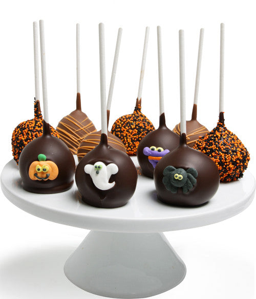 Halloween Chocolate Dipped Cake Pops - Golden Edibles