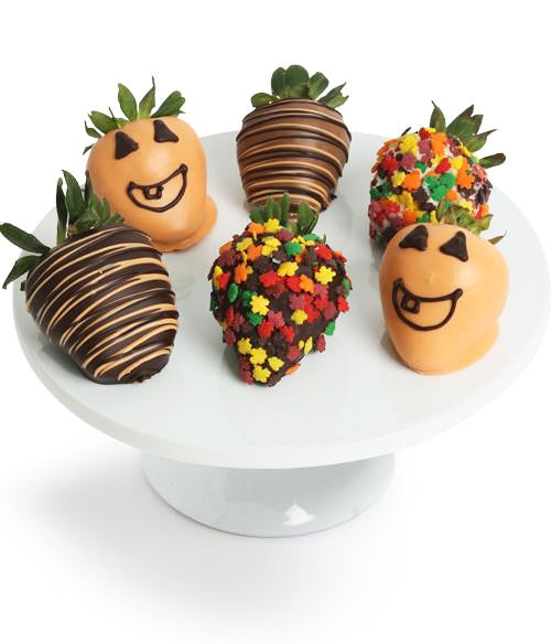 Spooky Halloween Chocolate Covered Strawberries - 6pc