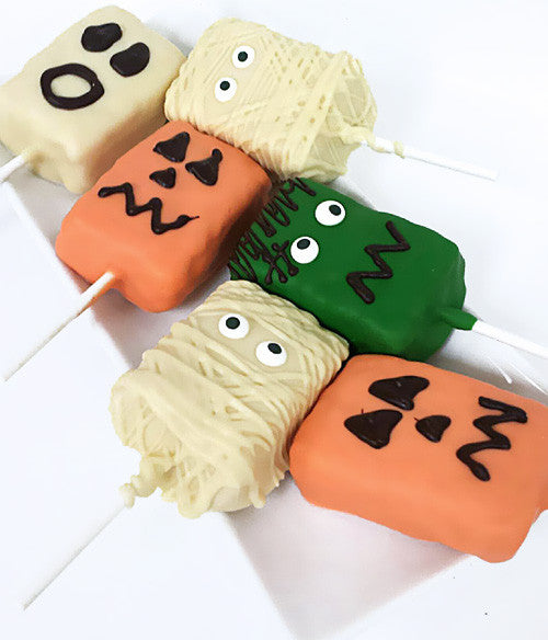 Spooky Halloween Characters Chocolate Covered Crispy Pops - 6pc