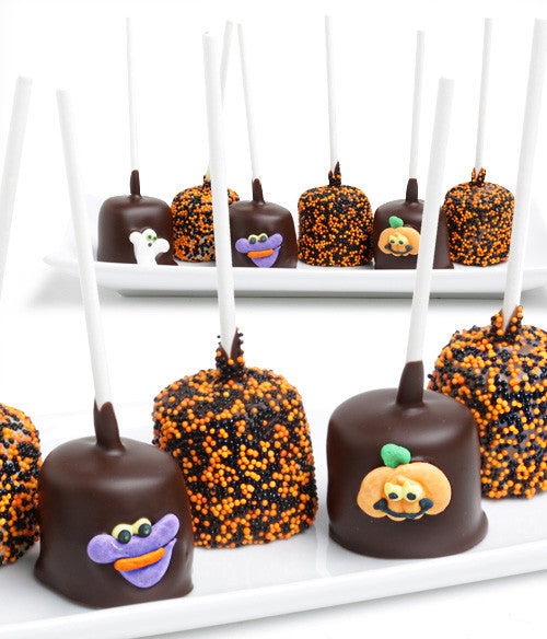 Halloween Chocolate Covered Marshmallow Pops - 6pc - Golden Edibles