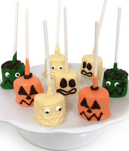 Spooky Halloween Characters Chocolate Covered Marshmallow Pops - 8pc
