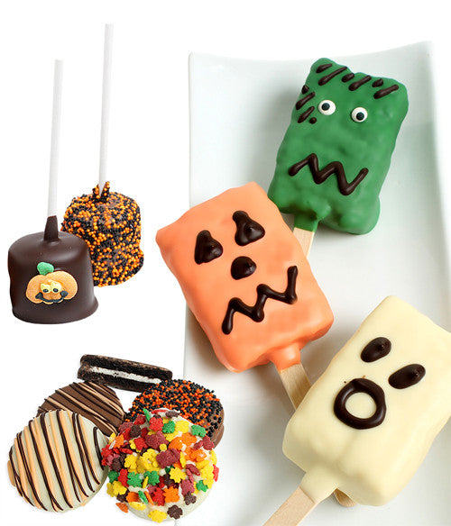 Halloween Fun Chocolate Covered Treats- 9 pc - Golden Edibles