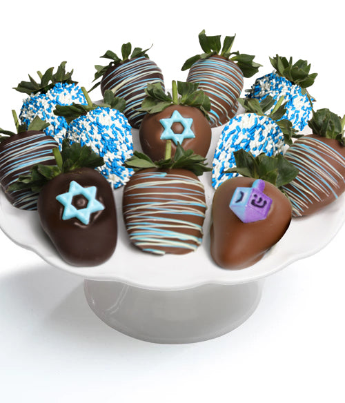 Hanukkah Belgian Chocolate Covered Strawberries