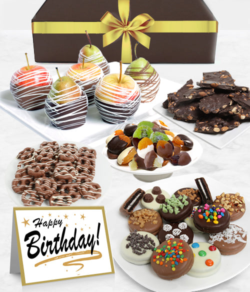 HAPPY BIRTHDAY - Grand Belgian Chocolate Covered Fruit Gift Box
